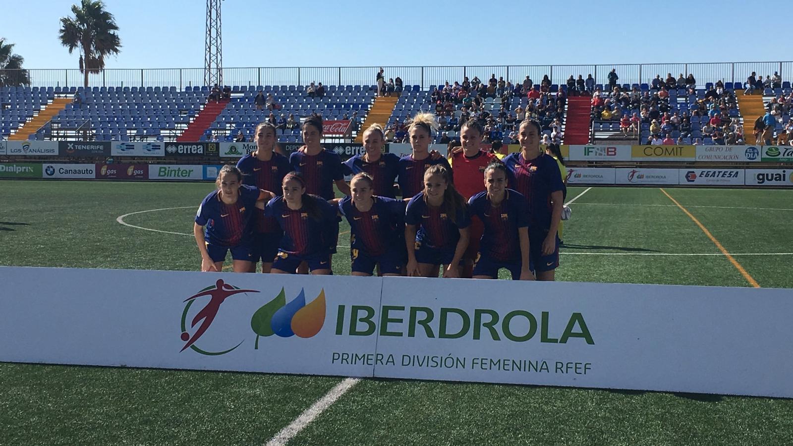 L'onze inicial del Barça femení a Tenerife