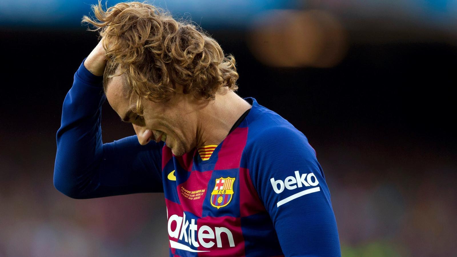 Antoine Griezmann està vivint una temporada difícil al Barça / EFE