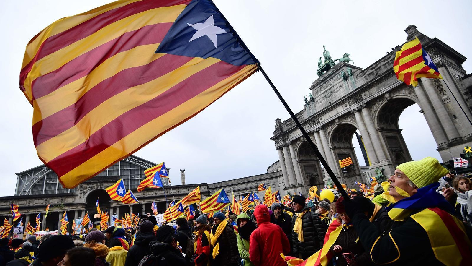 La manifestació a Brussel·les.