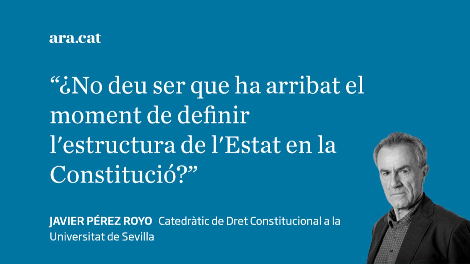 La Constitució territorial possible