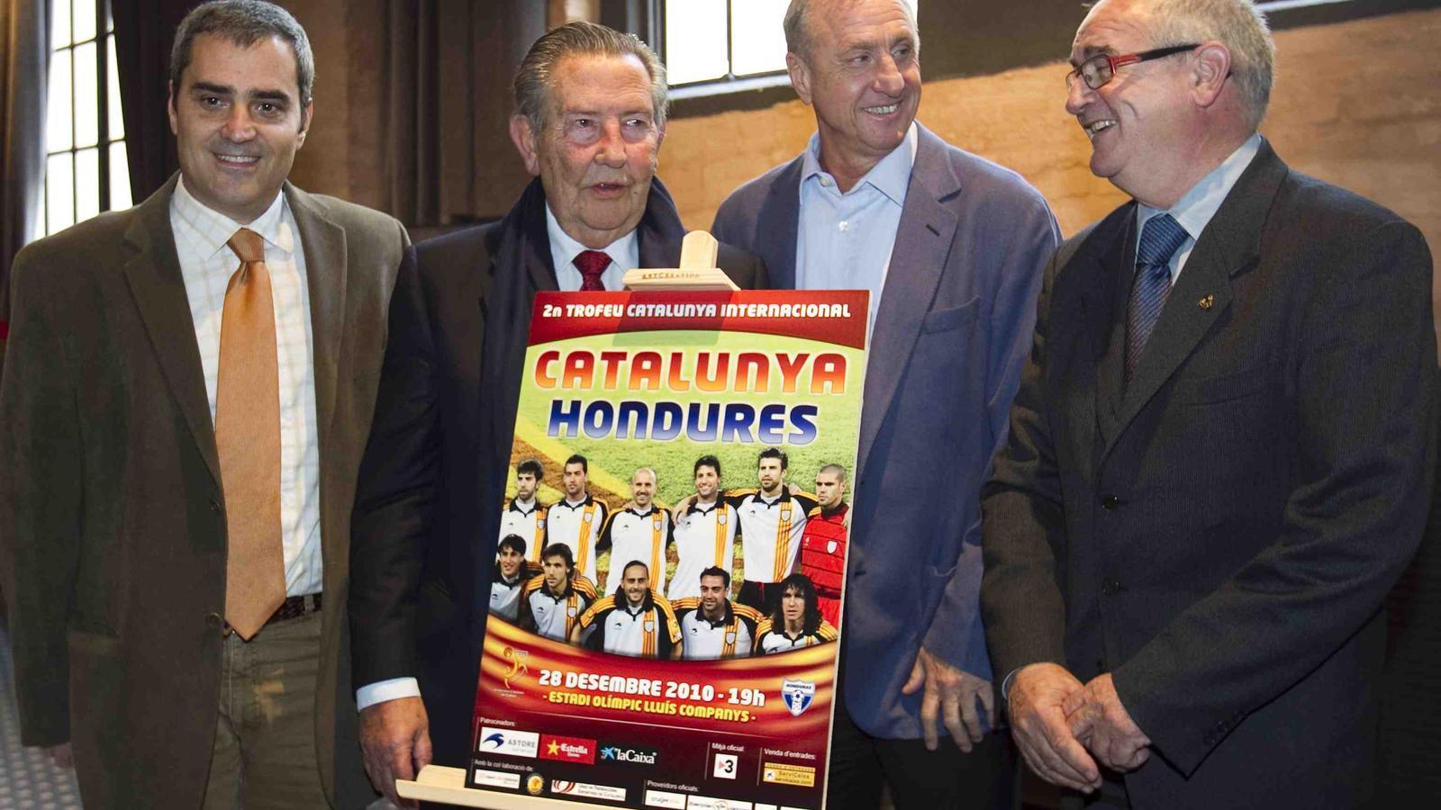 Presentació del Catalunya-Hondures.