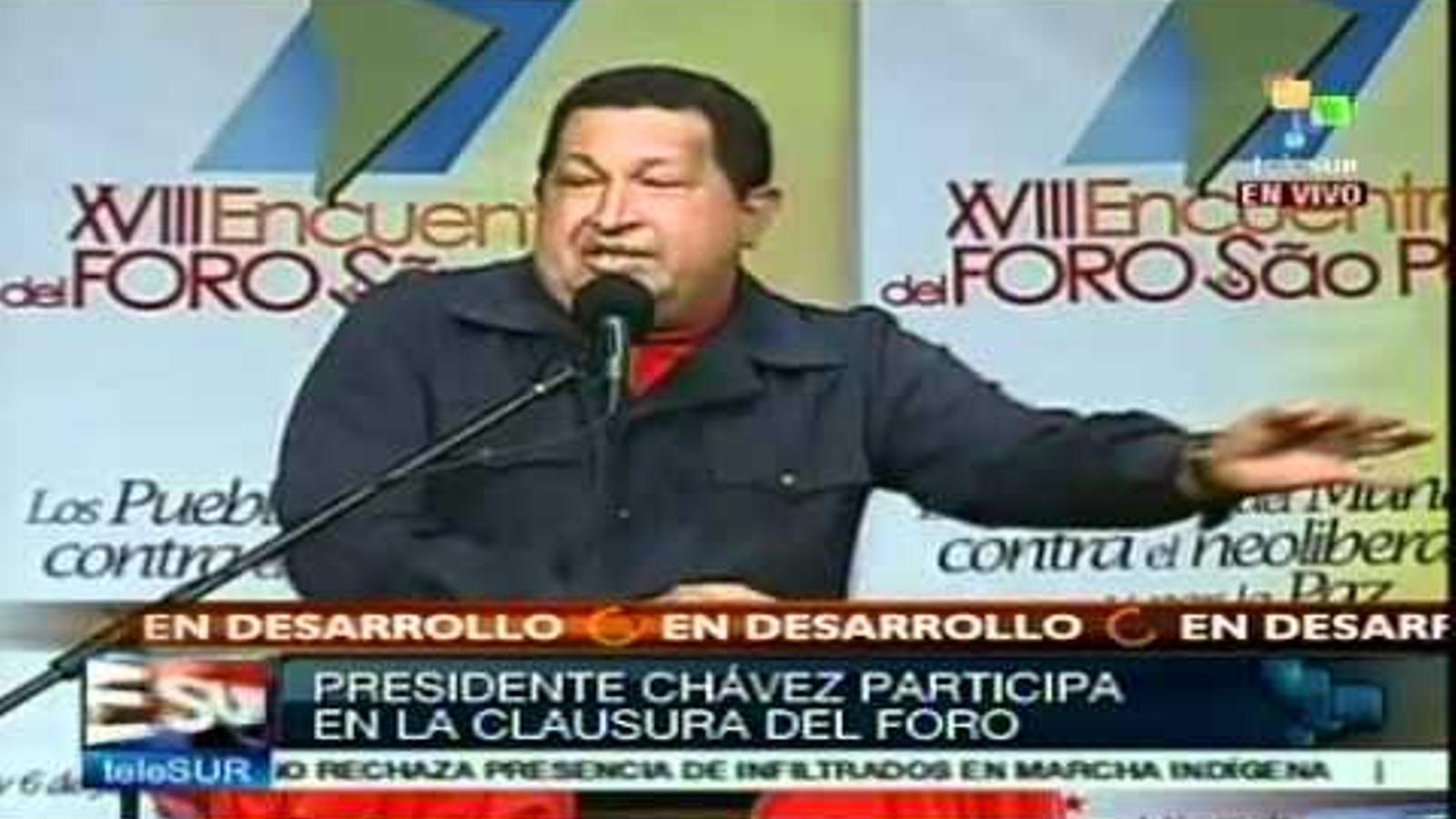 Chávez parla sobre Fidel en un discurs