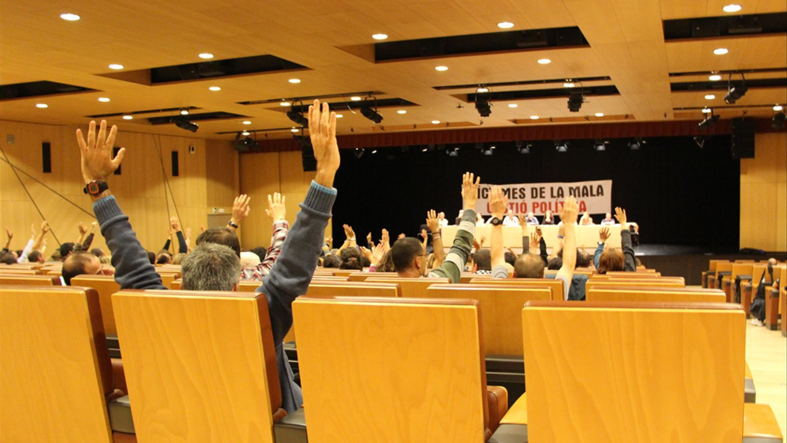 Una assemblea general de la Plataforma Sindical. / Arxiu ANA