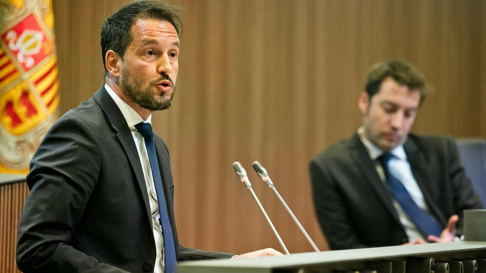 El president del grup parlamentari socialdemòcrata, Pere López. / PS