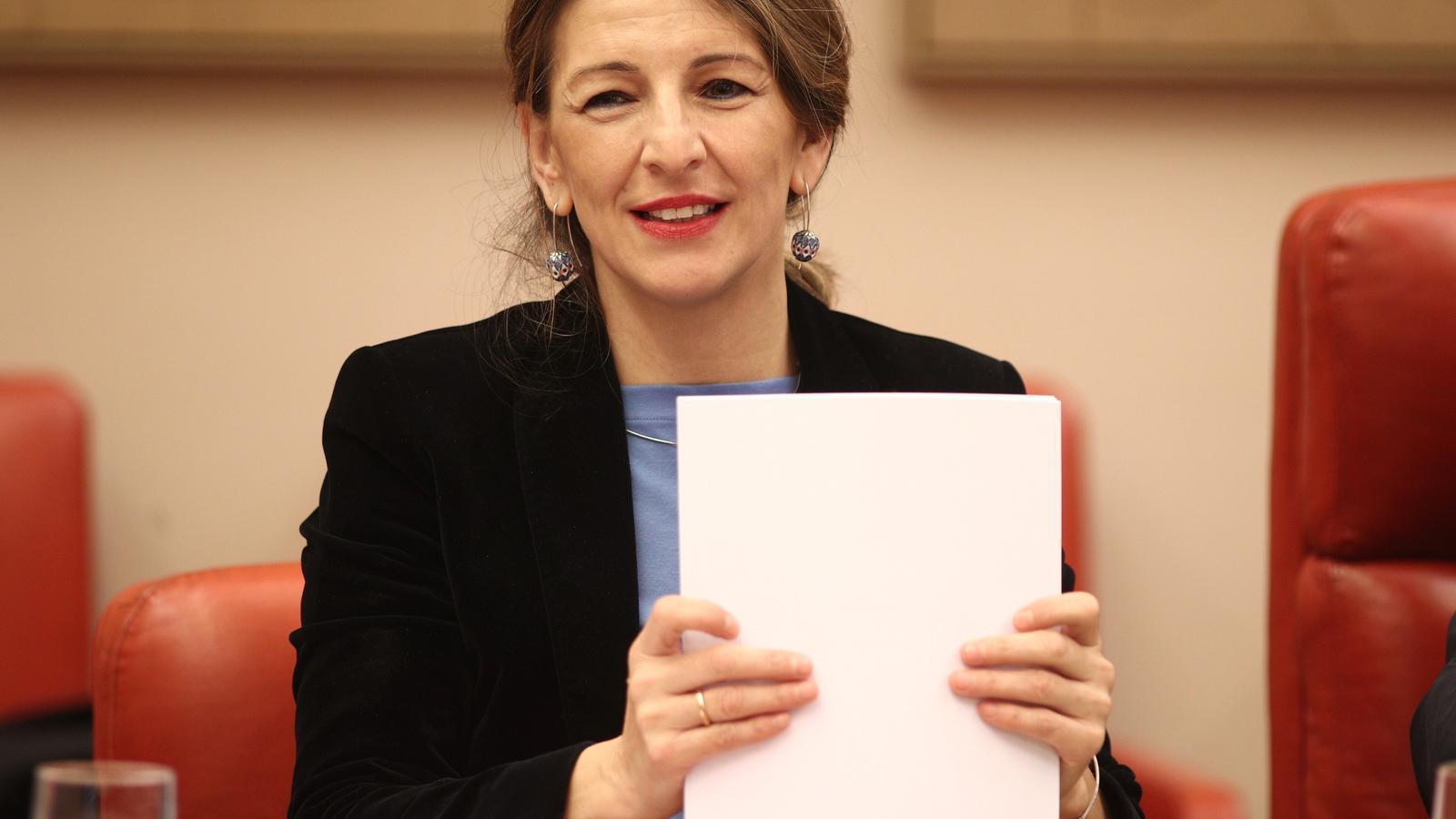 La ministra de Treball, Yolanda Díaz, en una imatge d'arxiu