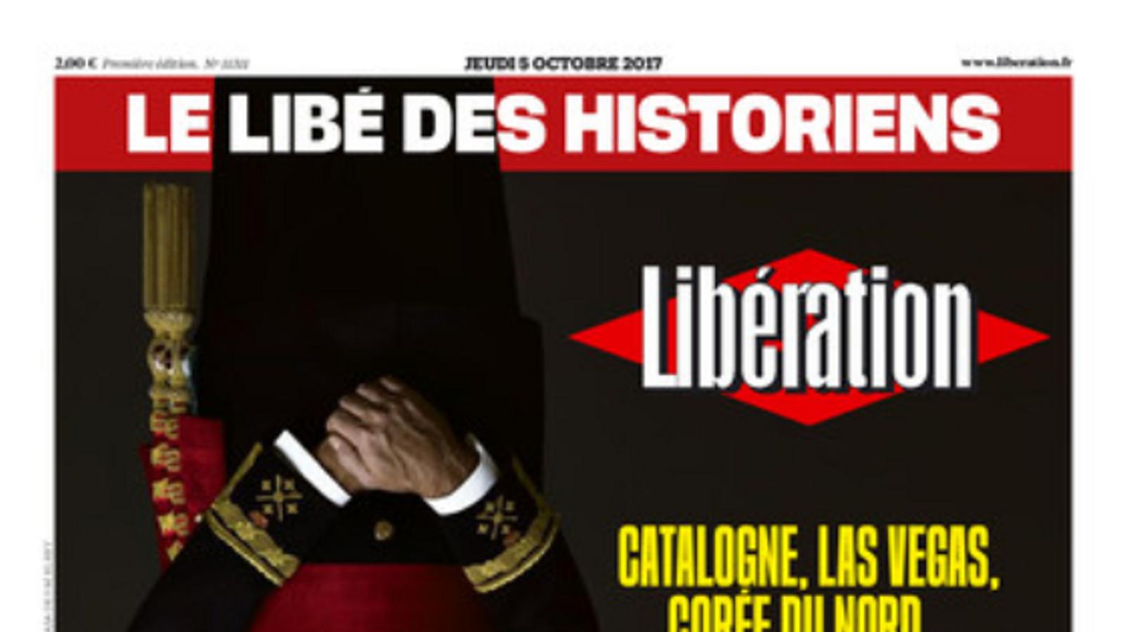 La imatge de Felip VI, girada de cap per avall al 'Libération'