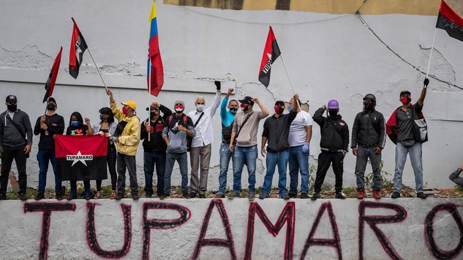 Manifestació de grups d'esquerra a Caracas