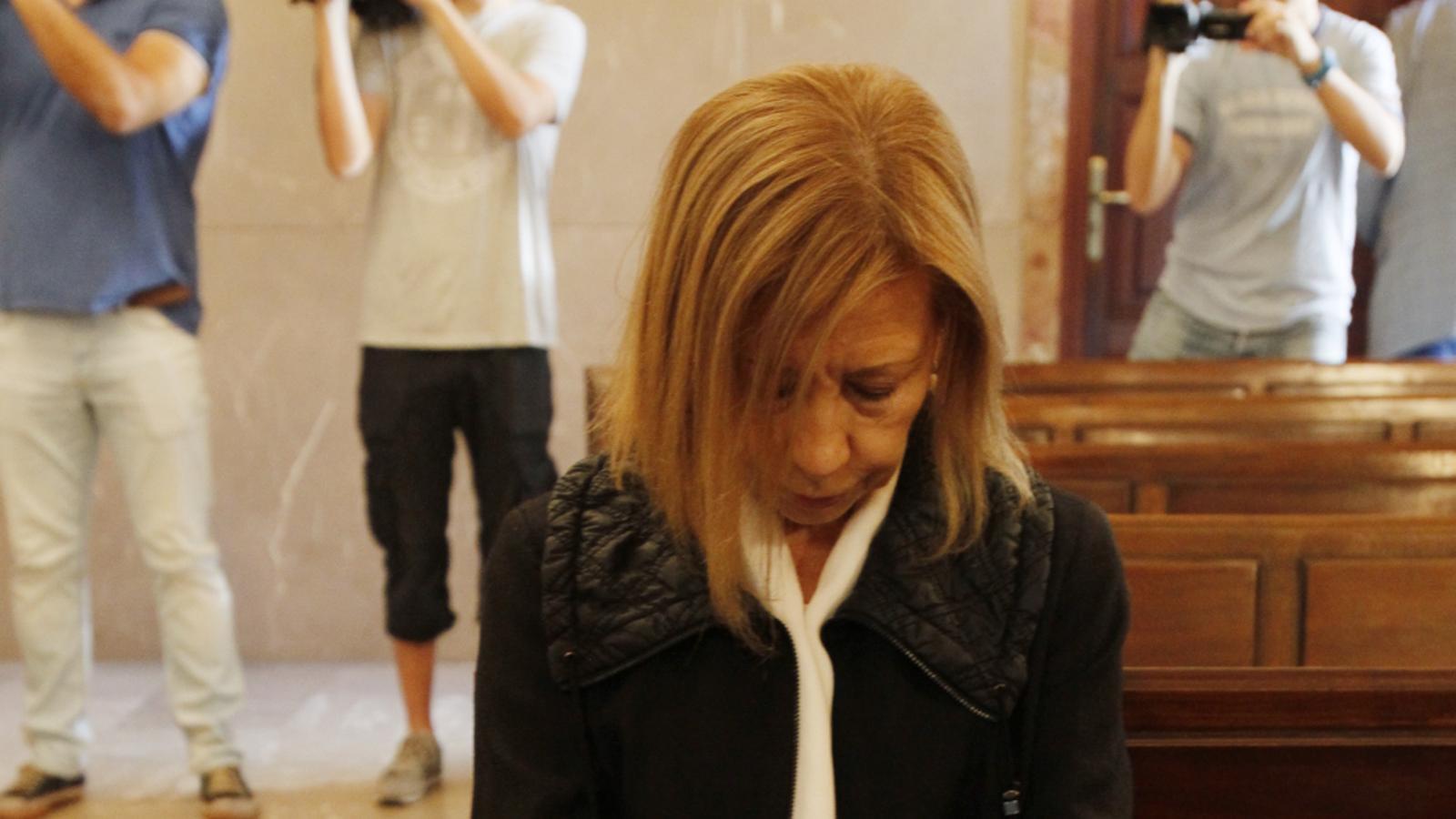 L'expresidenta del Consell de Mallorca, Maria Antònia Munar, durant el judici de Can Domenge.