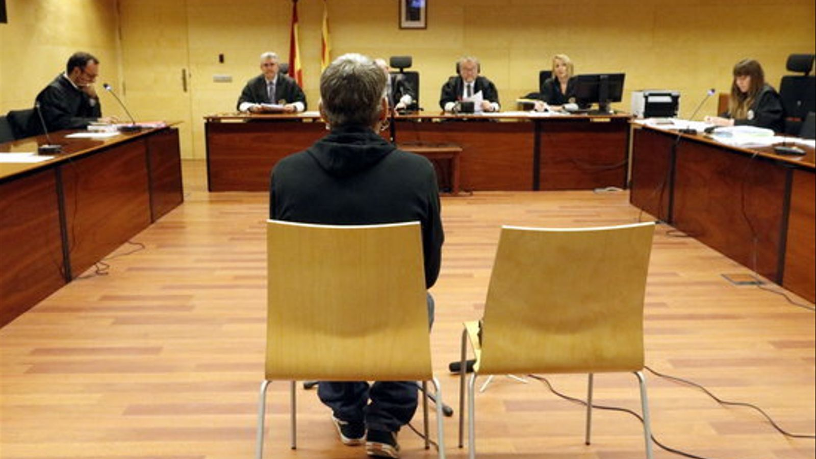 El condemnat, durant el judici. / ACN