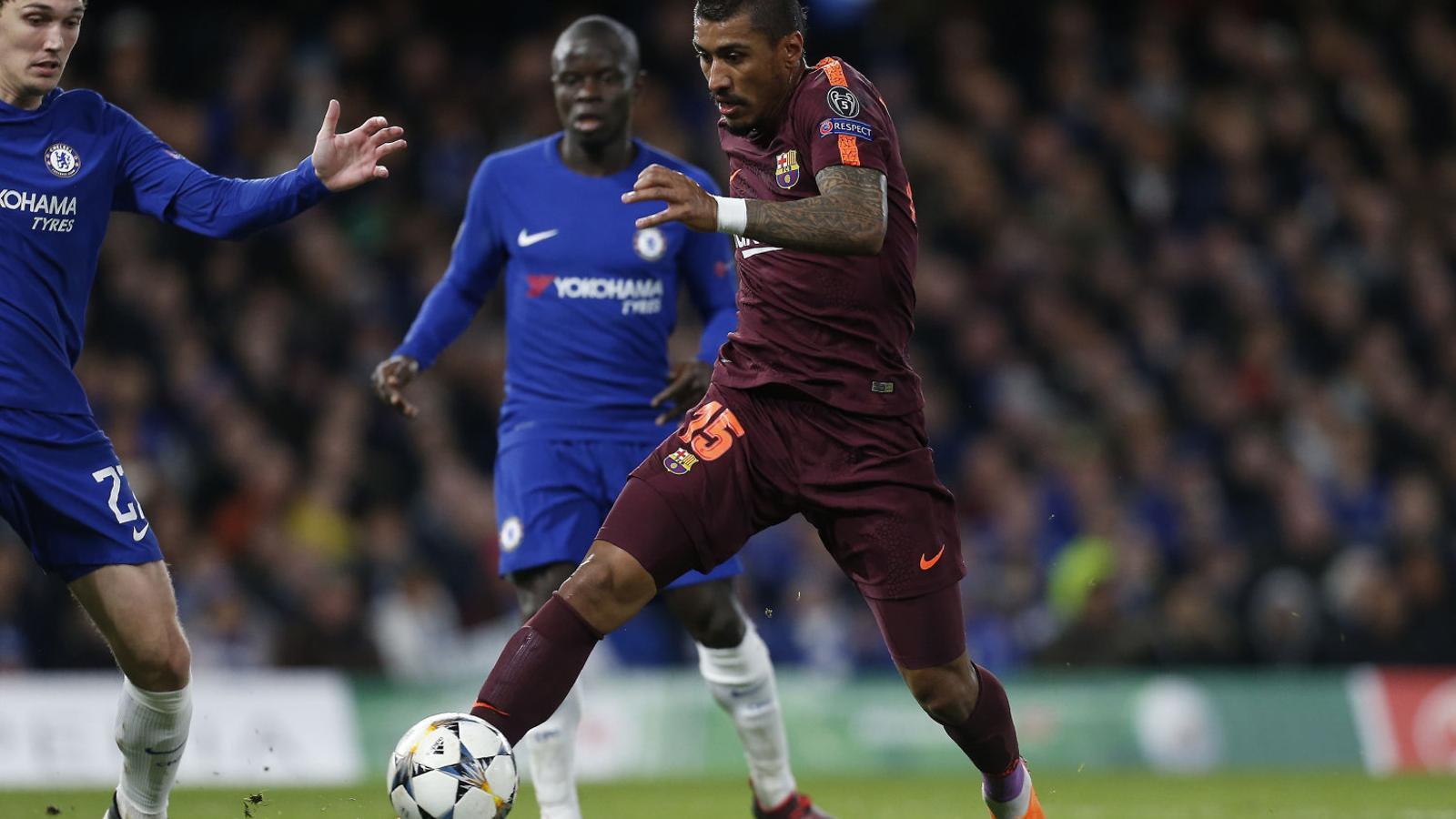 Paulinho en el partit d'ahir.