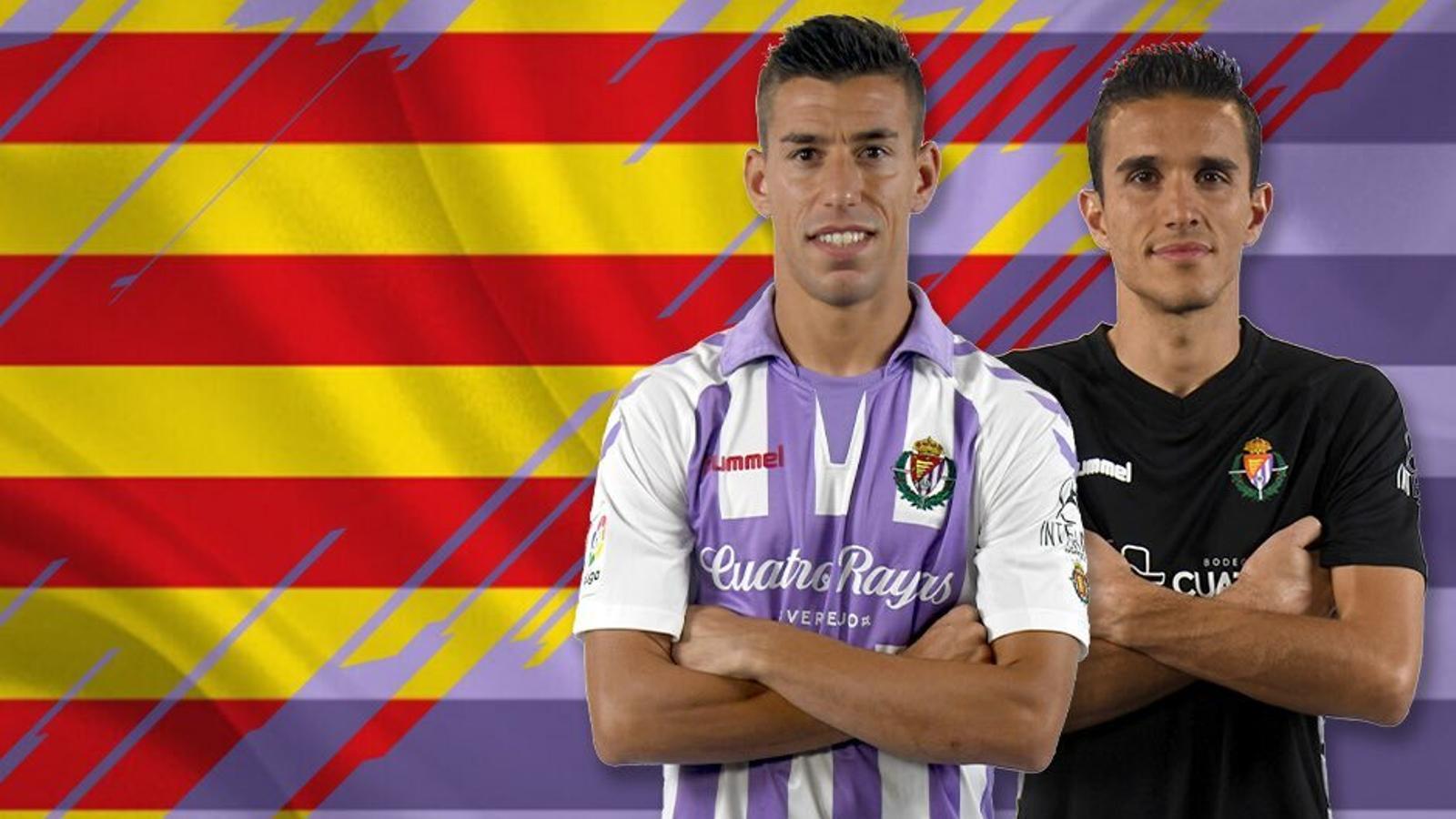 Alcaraz i Masip, jugadors catalans del Valladolid