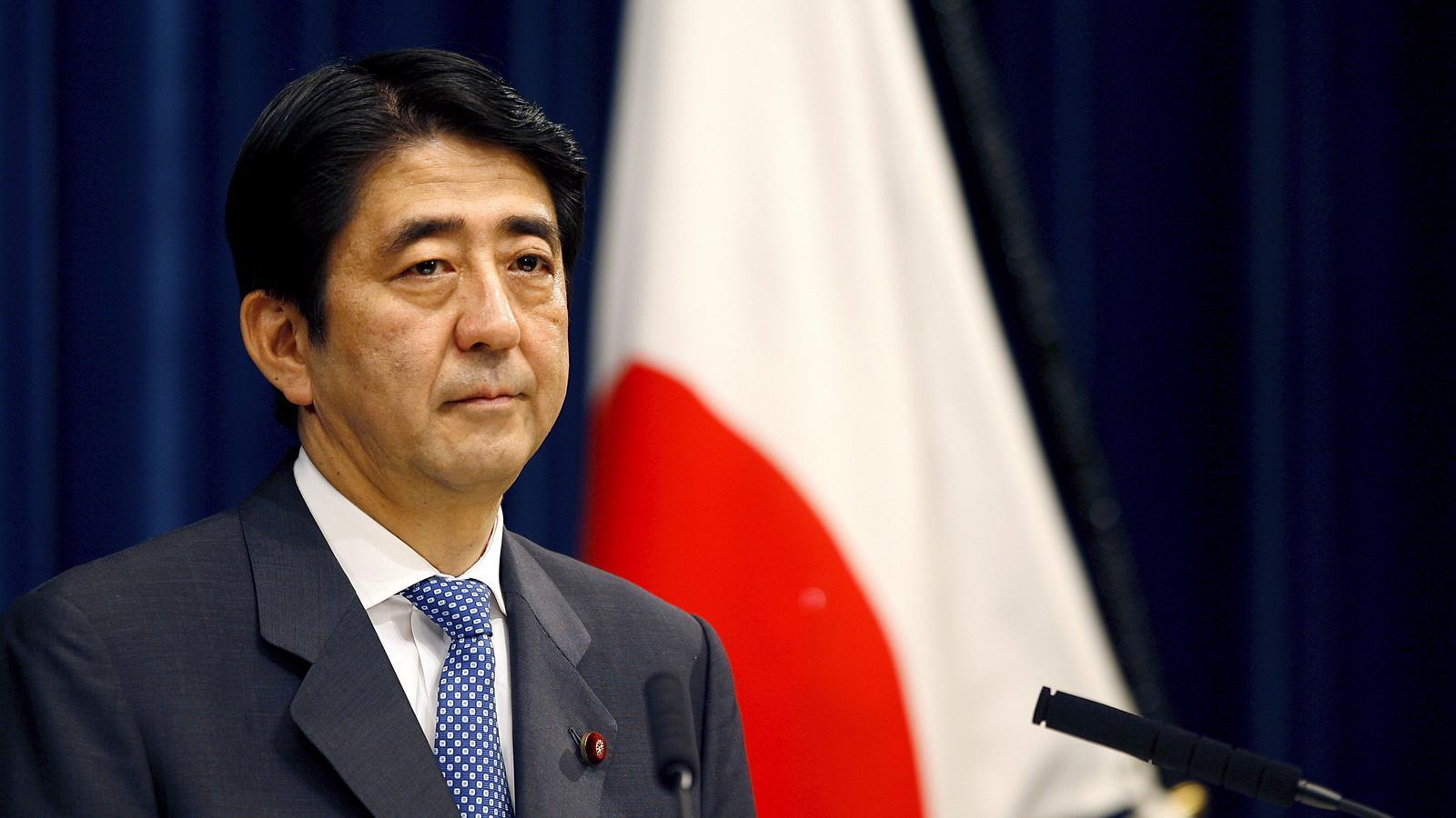 Shinzo Abe, en setembre de 2007, quan ja va haver d'anunciar una primera dimissió per problemes de salut