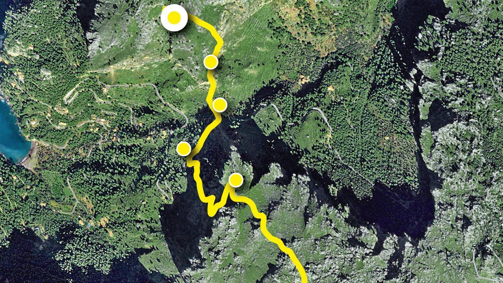 Del camí de la Barra a la torre de la Mola de Tuent