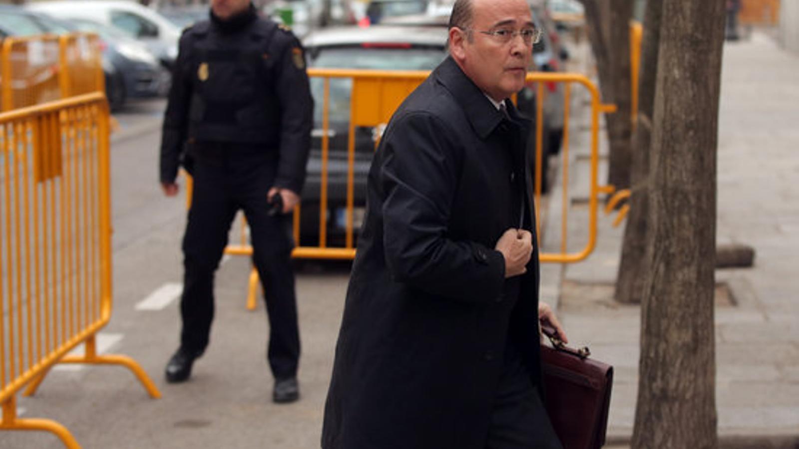 Diego Pérez de los Cobos, en la seva arribada al Tribunal Suprem