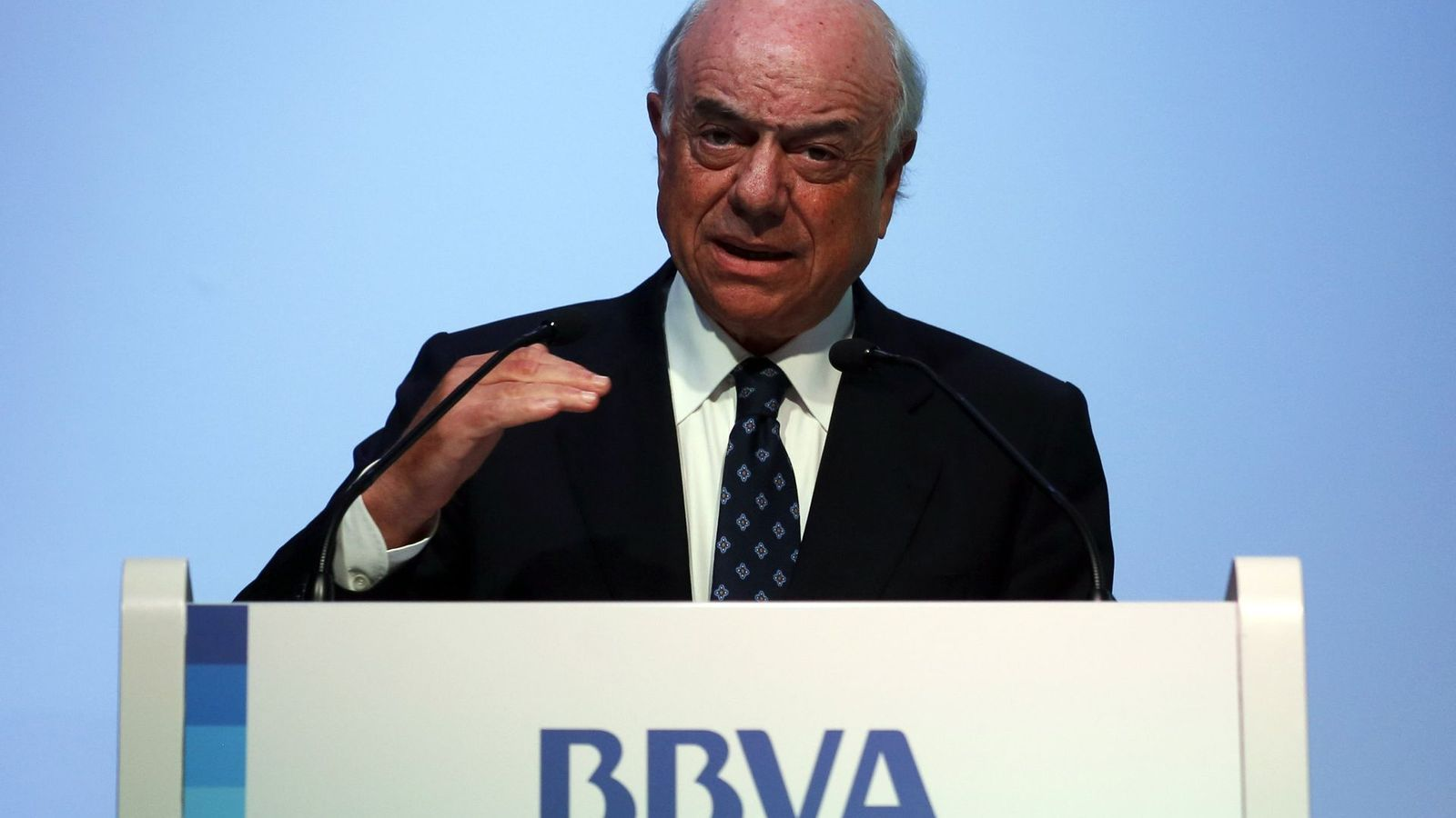 Francisco González, president del BBVA, preveu que l'entitat guanyi diners també a Espanya aquest 2013.