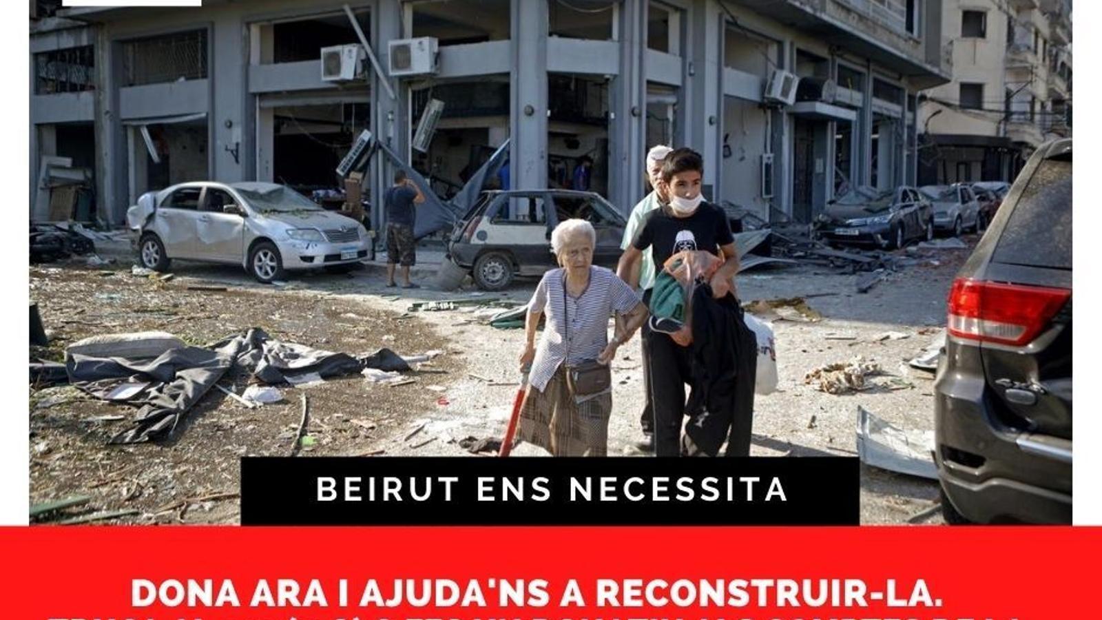 El cartell que les ONG han editat per fer la crida als donatius. / PLATAFORMA D'ONG