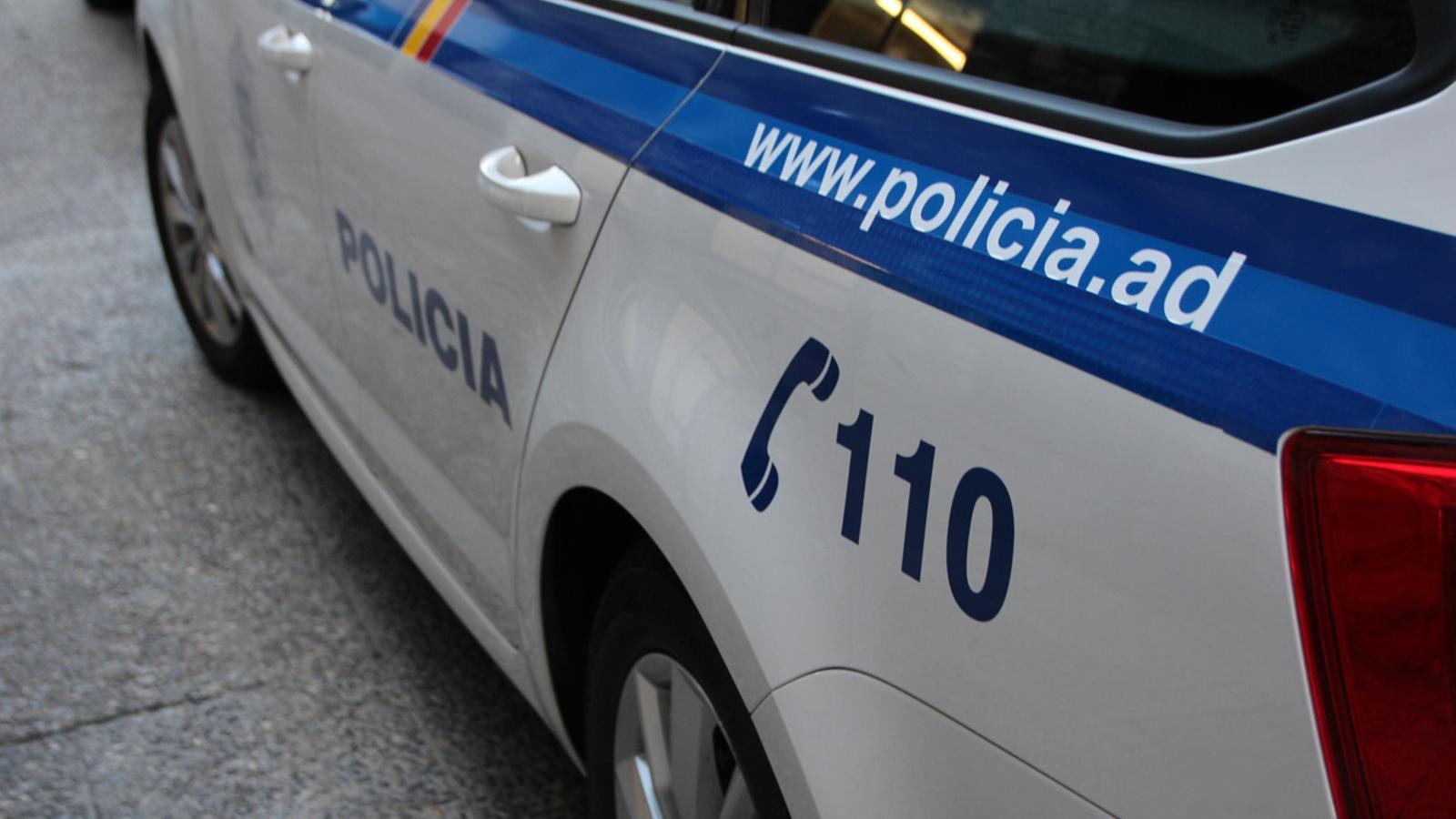 Un vehicle de la policia. / ARXIU ANA