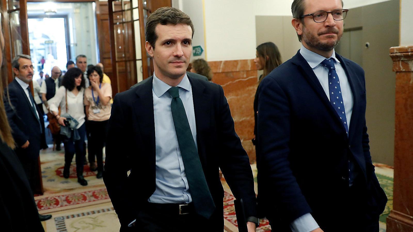 Els diputats del PP al Congrés Pablo Casado i Javier Maroto.