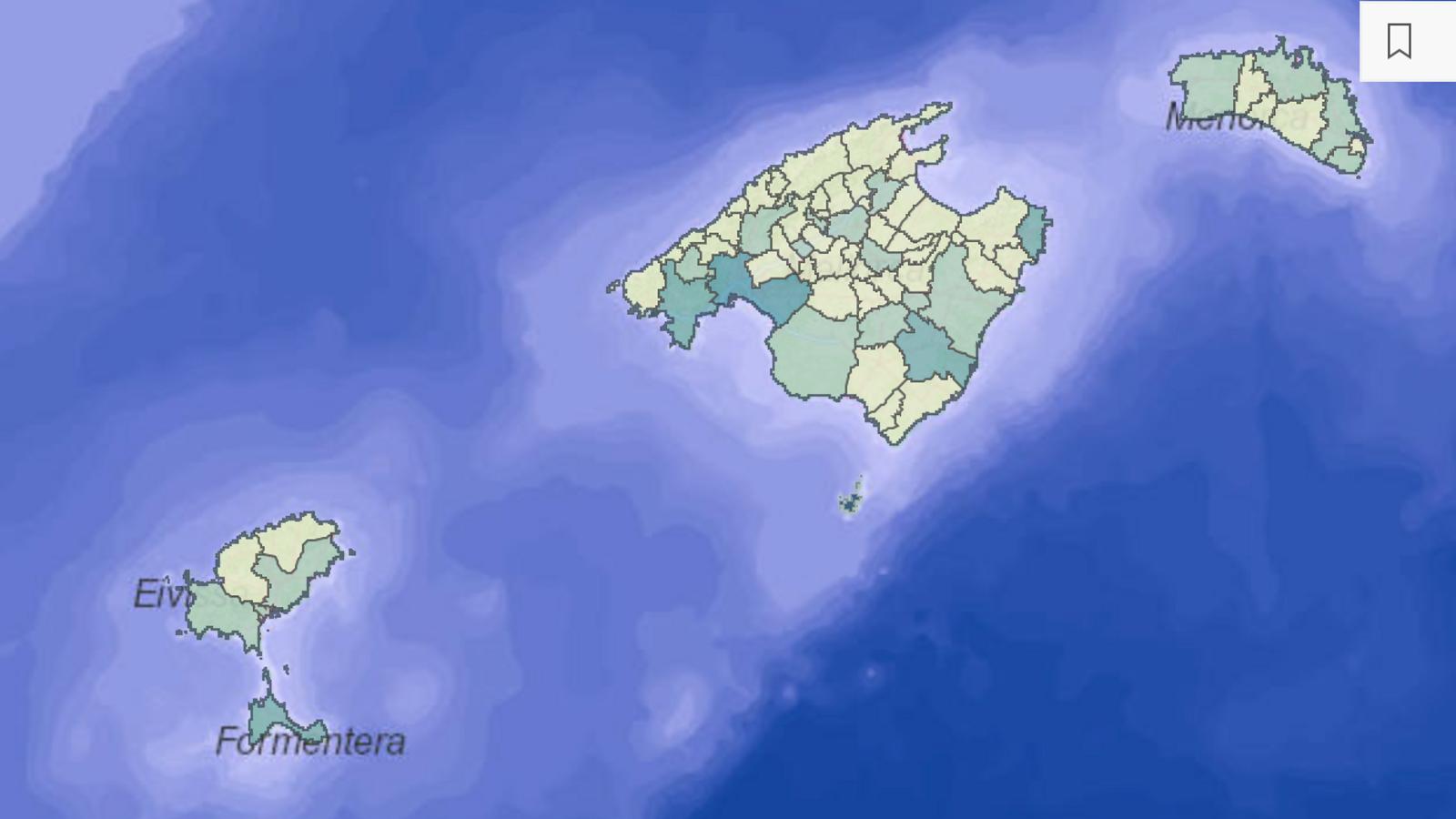 Mapa interactiu casos covid-19 Illes Balears