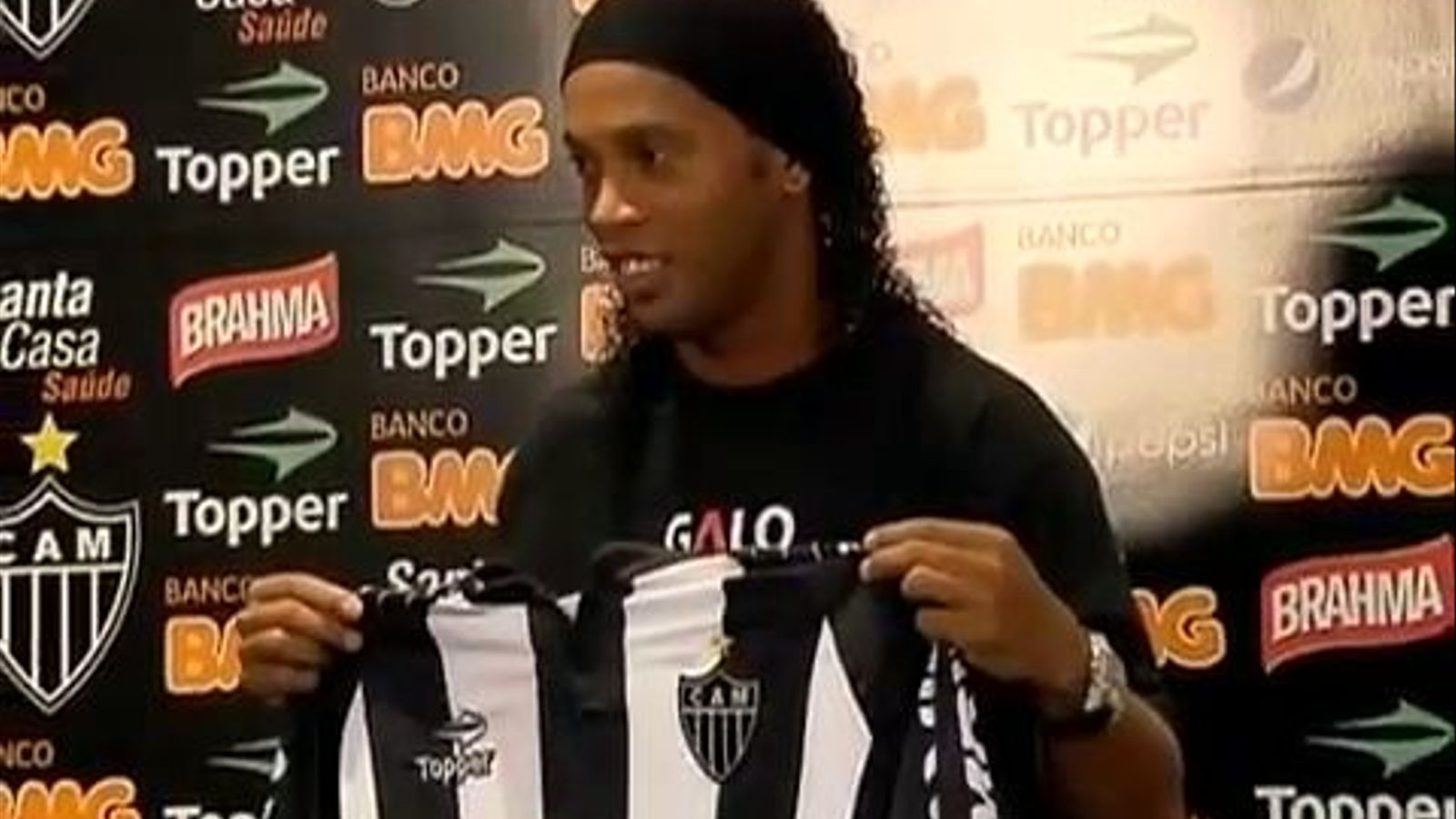 Ronaldinho, presentat com a nou jugador de l'Atletico Mineiro