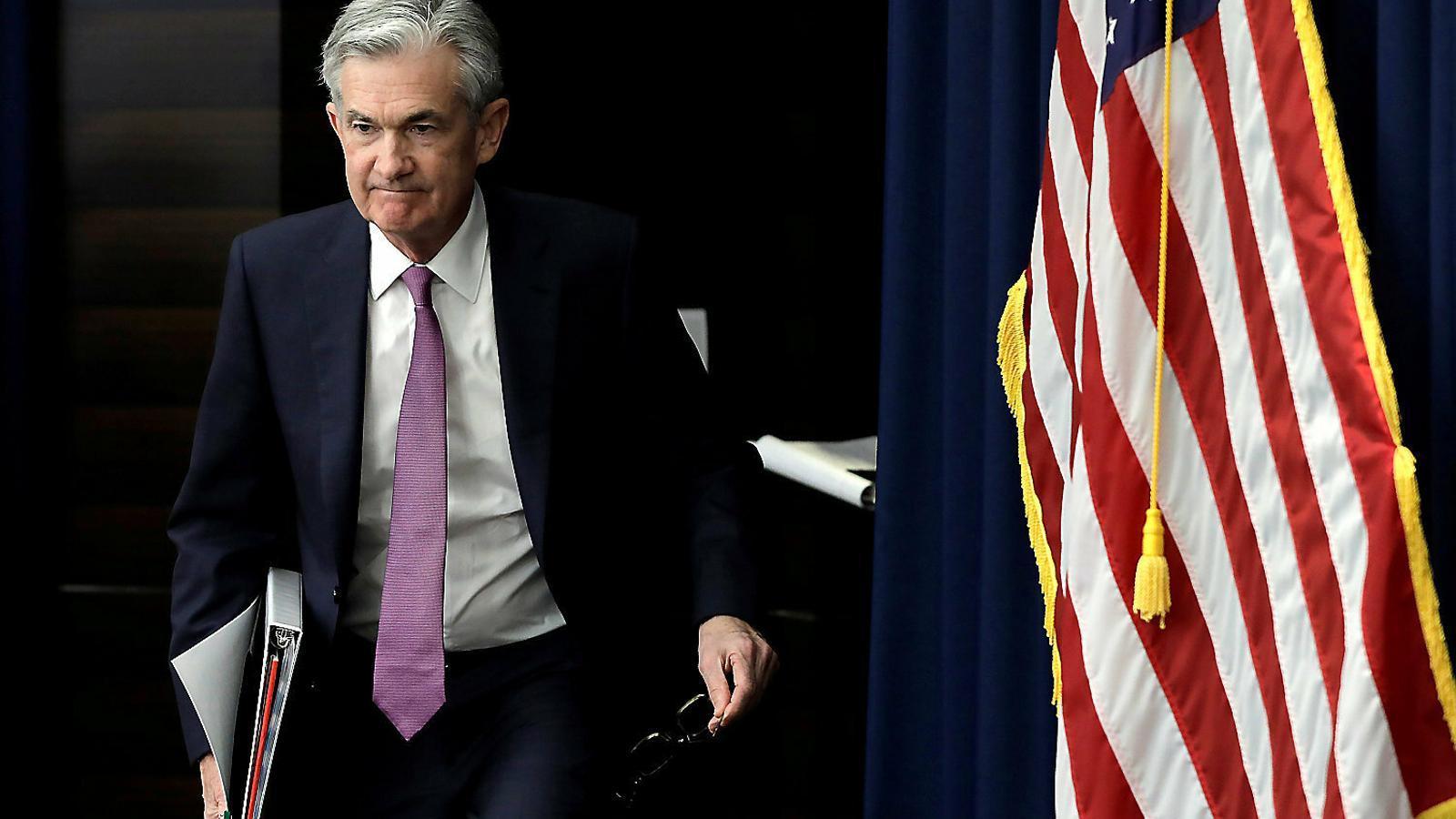 El president de la Fed, Jerome Powell, en una reunió del mes de maig.