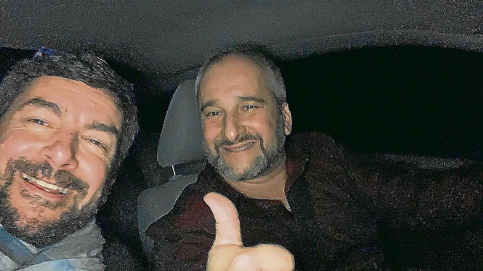 Joan Canadell -a l'esquerra- amb Ramon Carner en una imatge de principis d'aquest any.