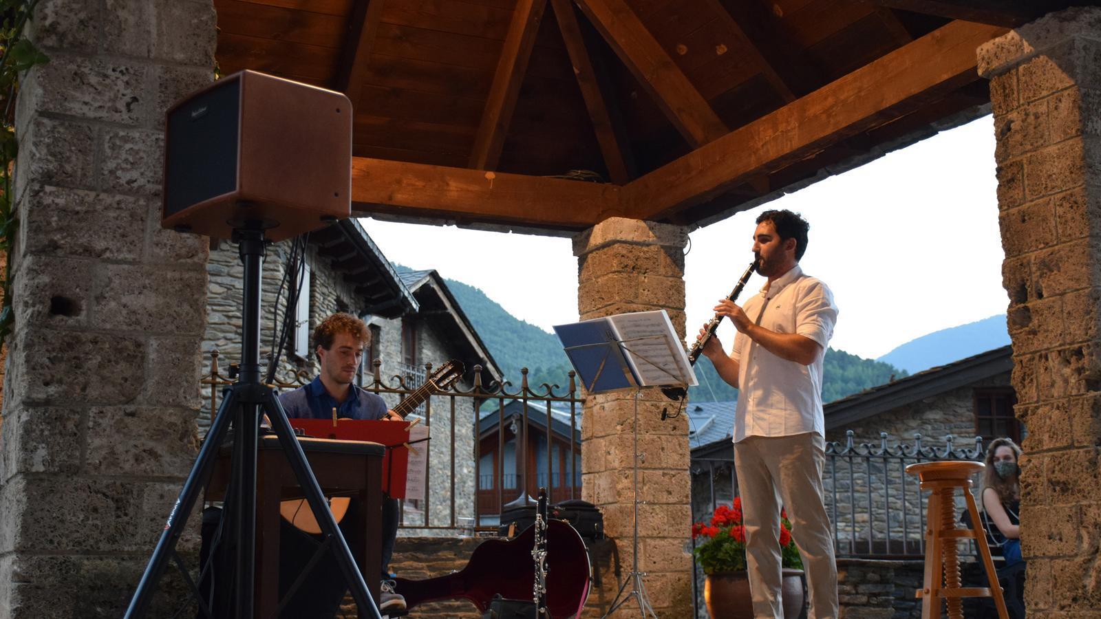 David Font i Unai Gutiérrez durant el concert. / A. S.