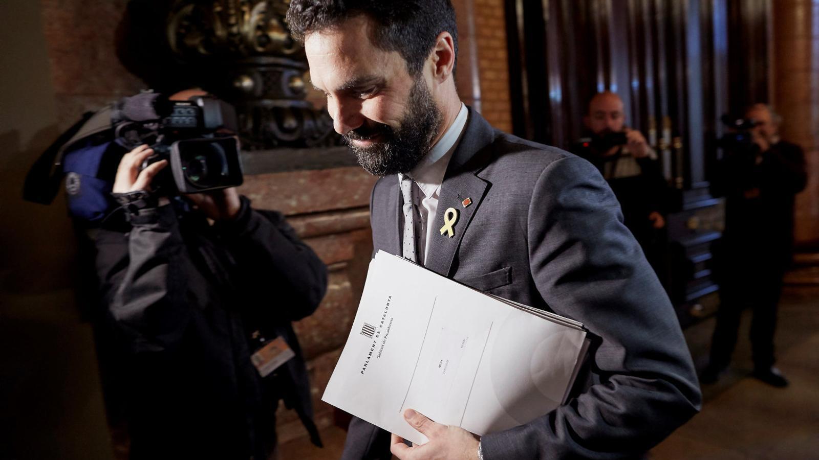 El president del Parlament, Roger Torrent, ahir a la cambra catalana.