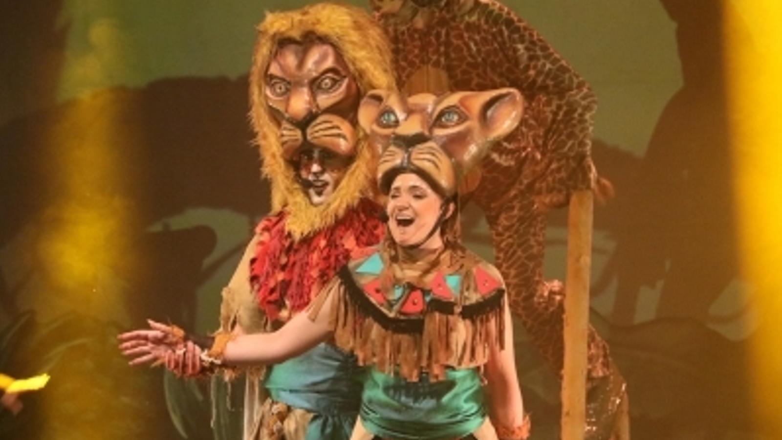 El musical 'De Simba a Kiara', un tribut a la pel·lícula de 'El rei lleó', representat aquest dissabte a la sala d'actes del complex esportiu i sociocultural d'Encamp. / E.C. (ANA)