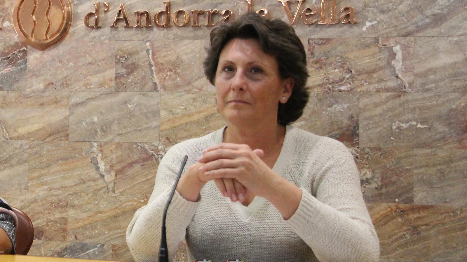 La presidenta del Sitca, Emi Matarrodona, durant la compareixença per presentar la resolució de l'aute de la Batllia. / M. M.