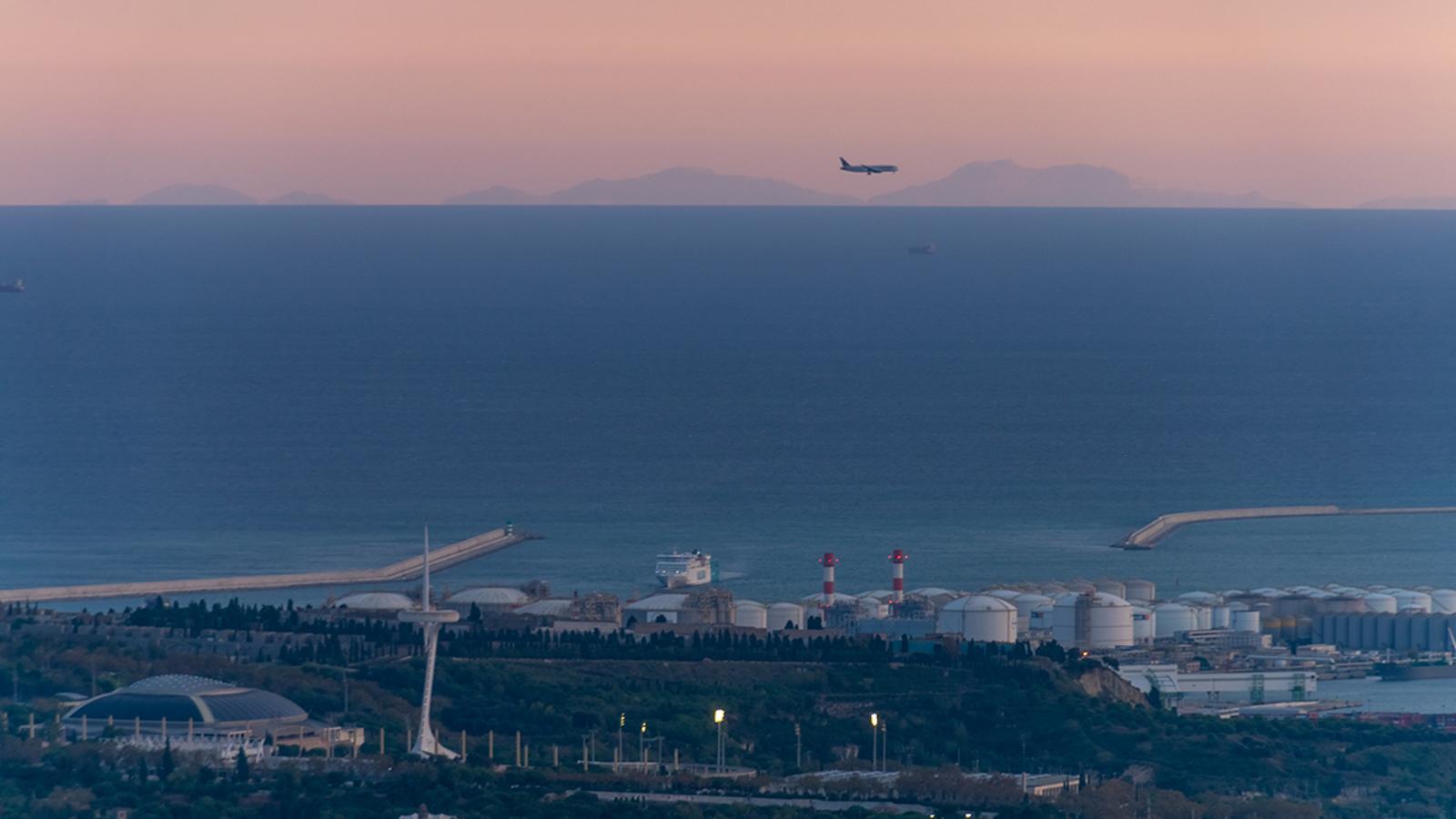 Mallorca des de Catalunya dos dies després d'un episodi de contaminació
