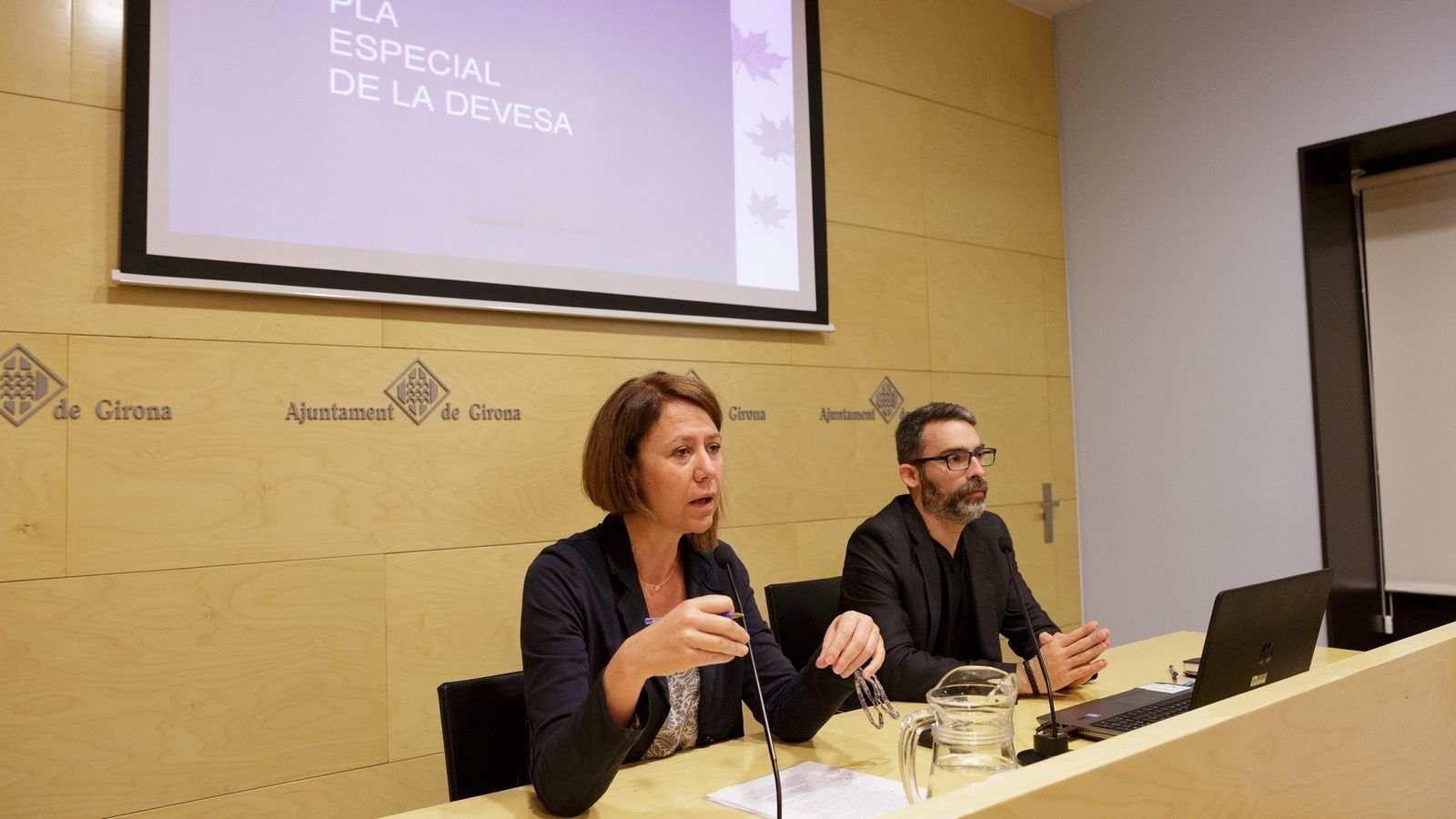 Madrenas i Sastre durant la presentació del projecte / Ajuntament de Girona