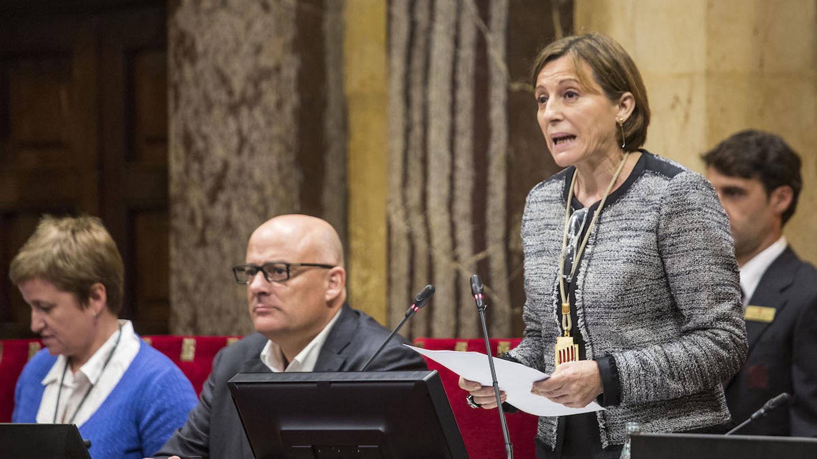 Carme Forcadell el dia que va prendre possessió del càrrec de presidenta del Parlament / PERE VIRGILI