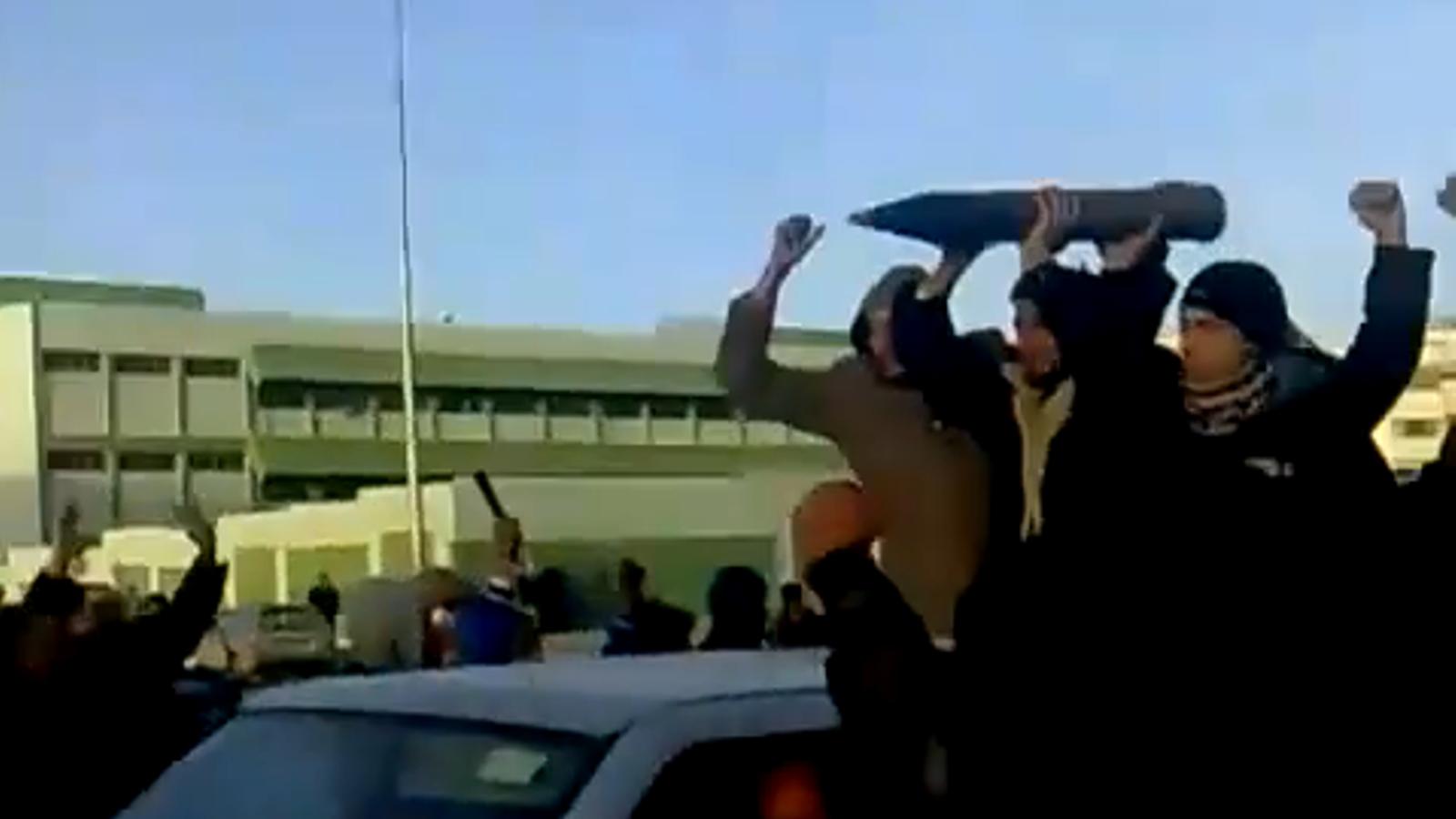 Imatges de les protestes a Líbia