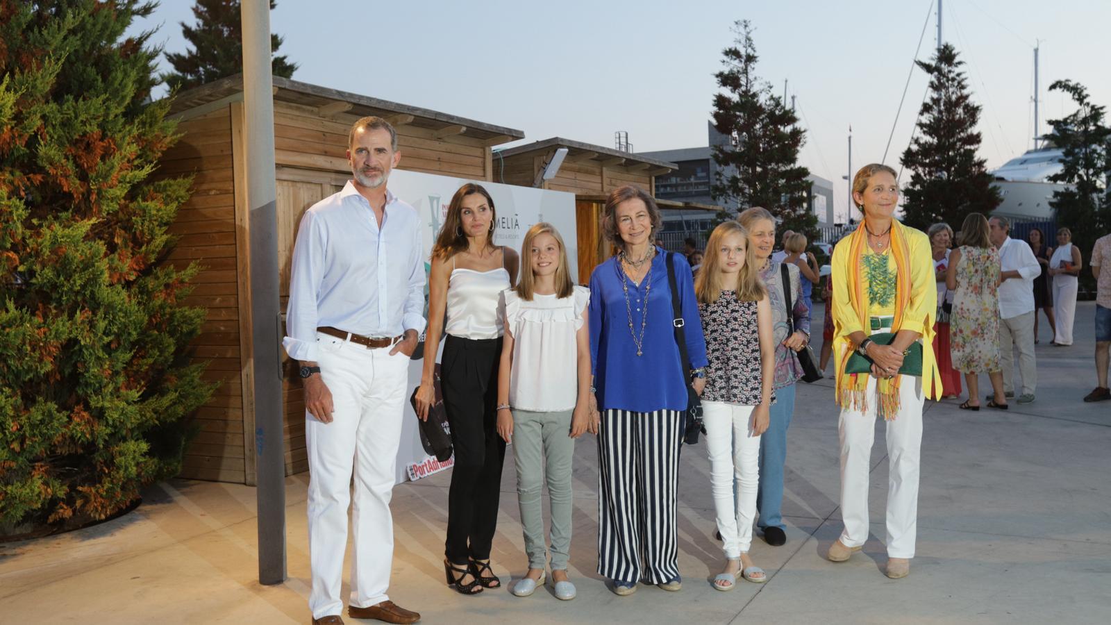 La família reial al concert del violinista Ara Malikian./ ISAAC BUJ