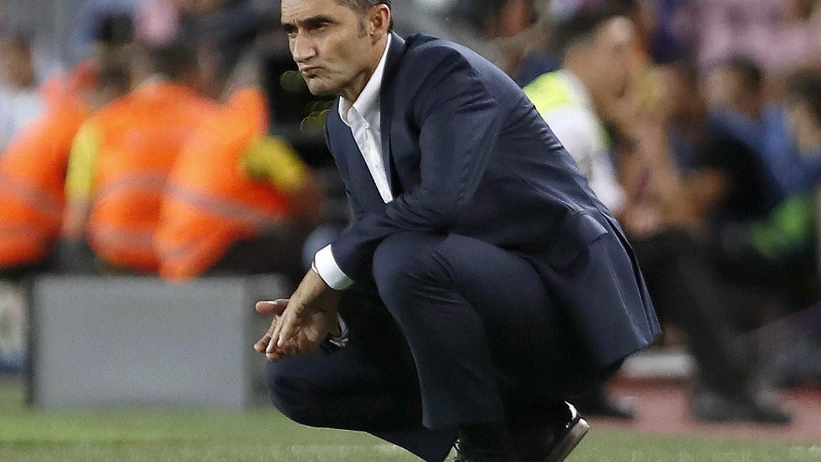 Ernesto Valverde durant el partit contra l'Alabès