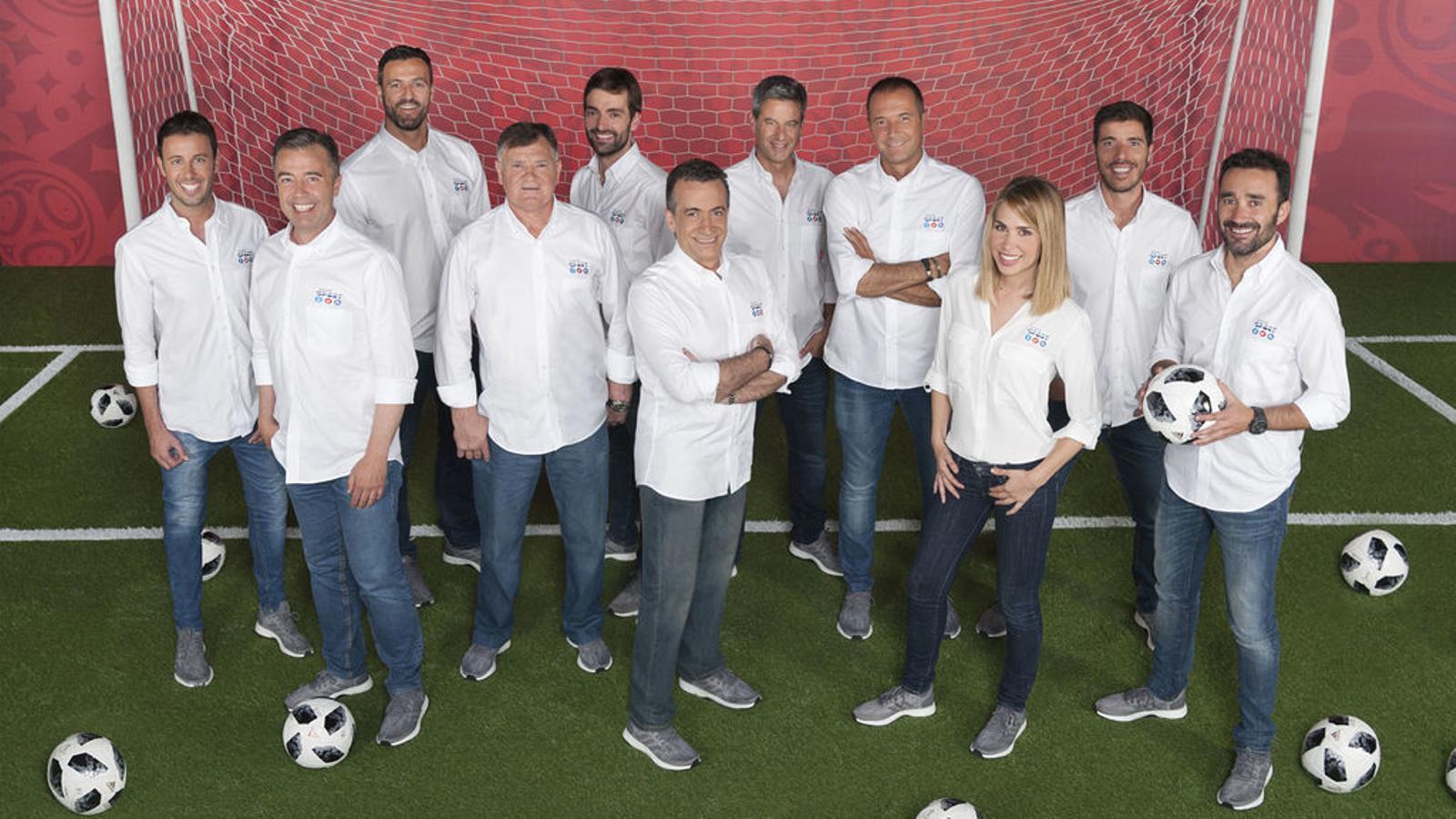 Part de l'equip de professionals que Mediaset enviarà a Rússia per cobrir el Mundial