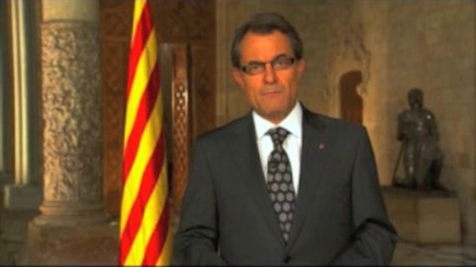 Mas carrega de responsabilitat els catalans i els exigeix creure en nosaltres mateixos