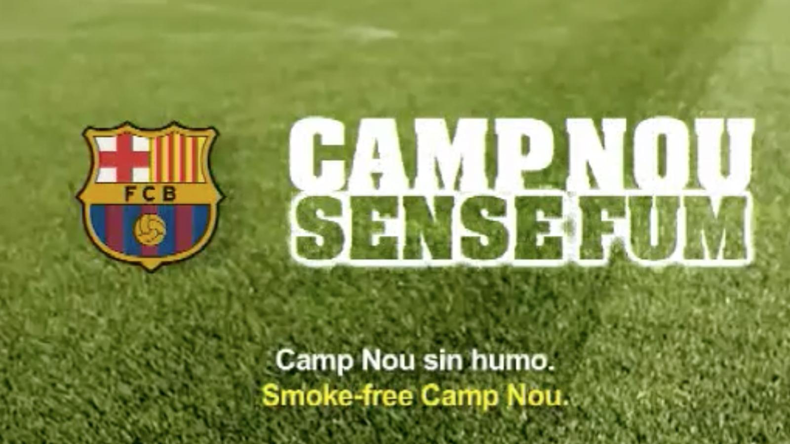 El Barça recomana els seus socis no fumar al Camp Nou