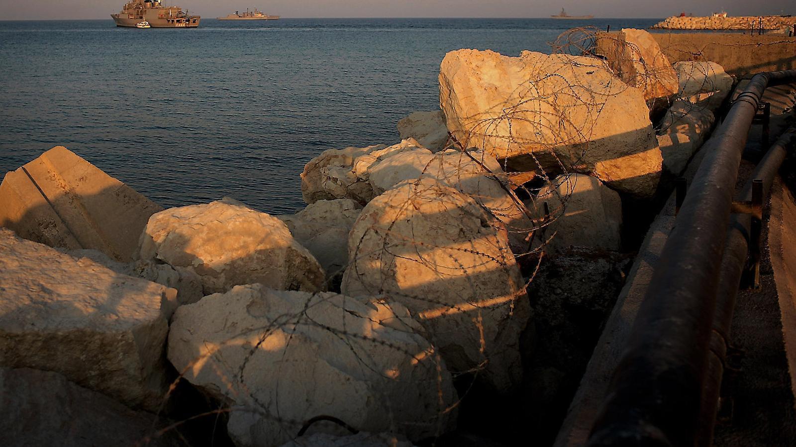 El mar Mediterrani, vist des de la costa de Xipre, on s'ha activat la ruta migratòria de persones procedents del Líban.