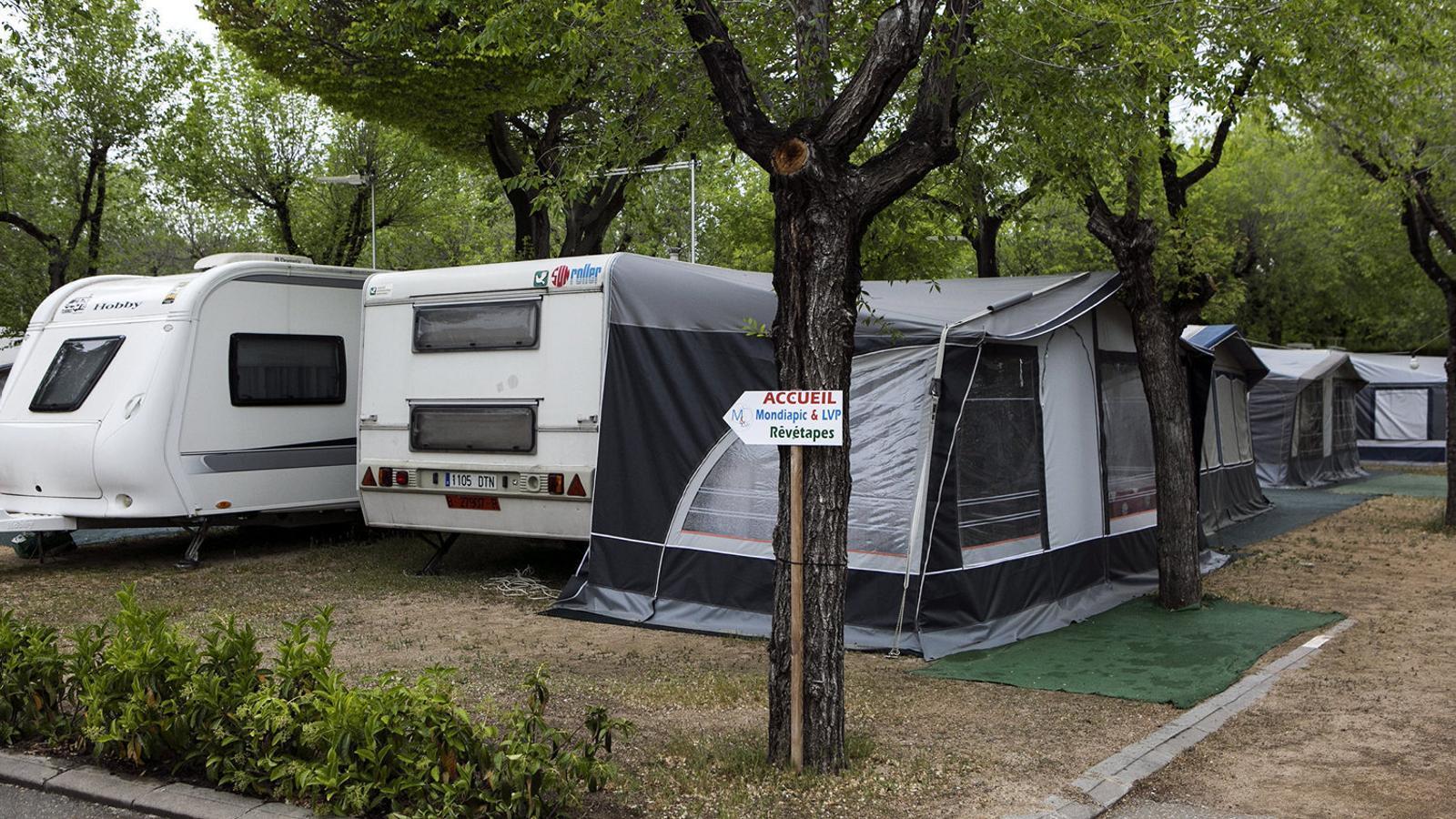Les caravanes del càmping Bella Terra, a Blanes, un dels amenaçats per la nova ordenació urbanística. / CÈLIA ATSET