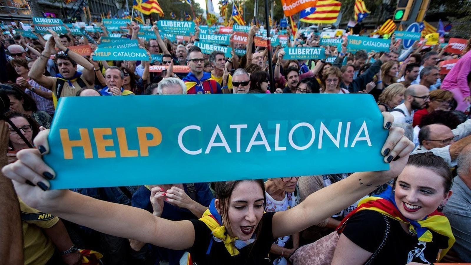"""""""Venim a lluitar per la independència i per dues grans persones que són a la presó"""""""
