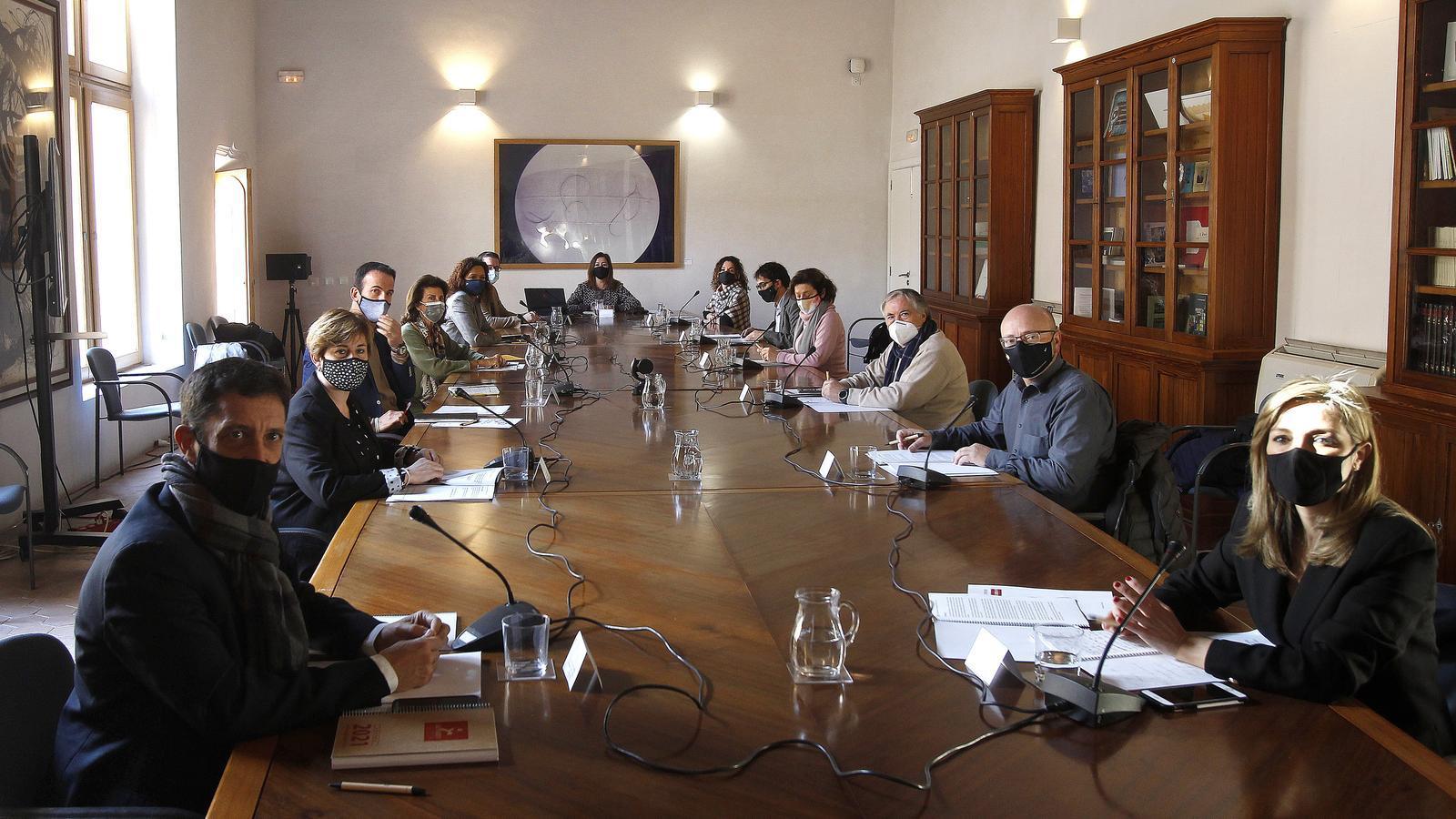 Reunió extraordinària de la Comissió de seguiment del Pacte per a la Reactivació Econòmica i Social de les Illes. / ISAAC BUJ