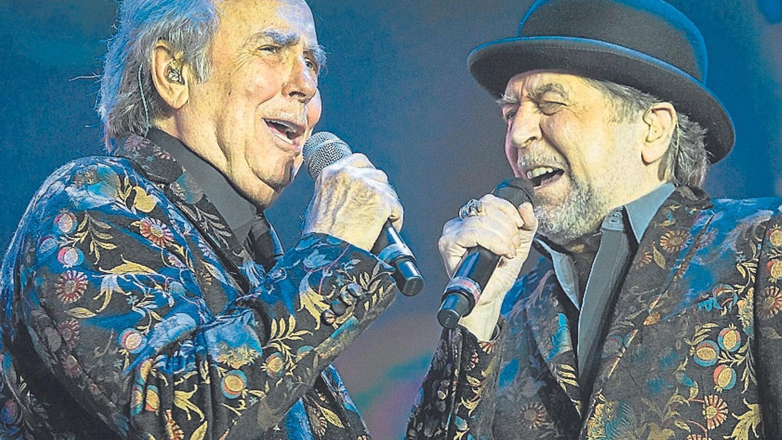 Joan Manuel Serrat i Joaquín Sabina al Palau Sant Jordi
