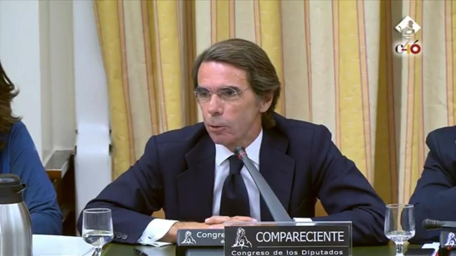 """Aznar a Rufián: """"Vostè és el representant d'un partit colpista"""""""