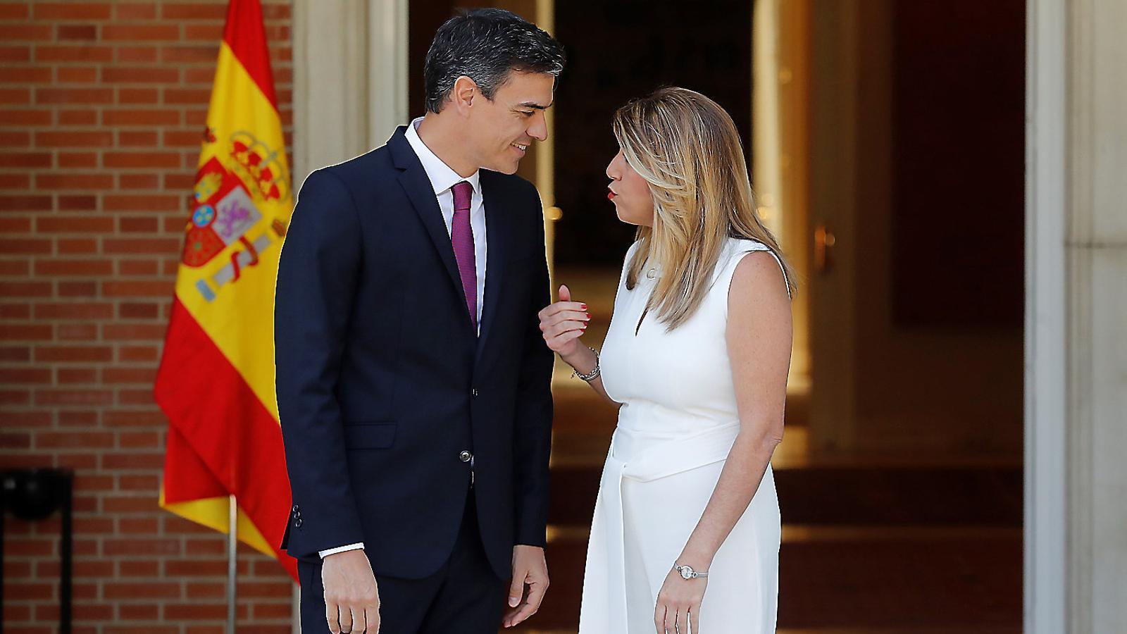 Sánchez i Díaz, en una reunió a la Moncloa al juliol.
