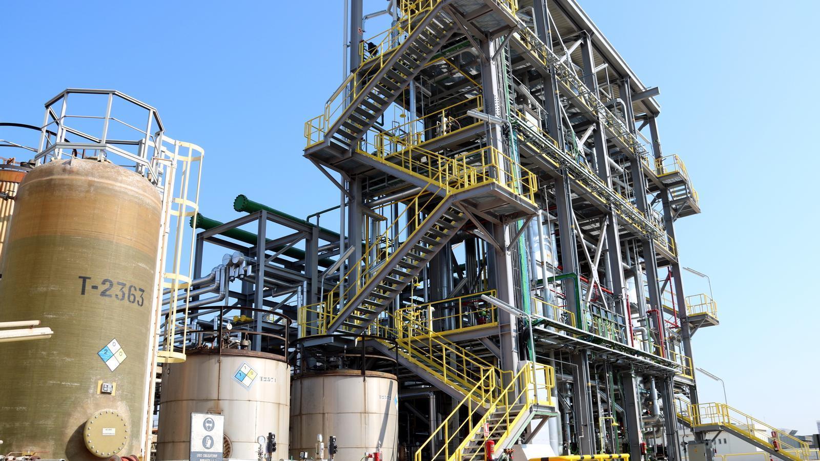 La planta de derivats d'òxid d'etilè de l'empresa química IQOXE a la Canonja, al Tarragonès, el dia de la seva inauguració, el 15 de març del 2017