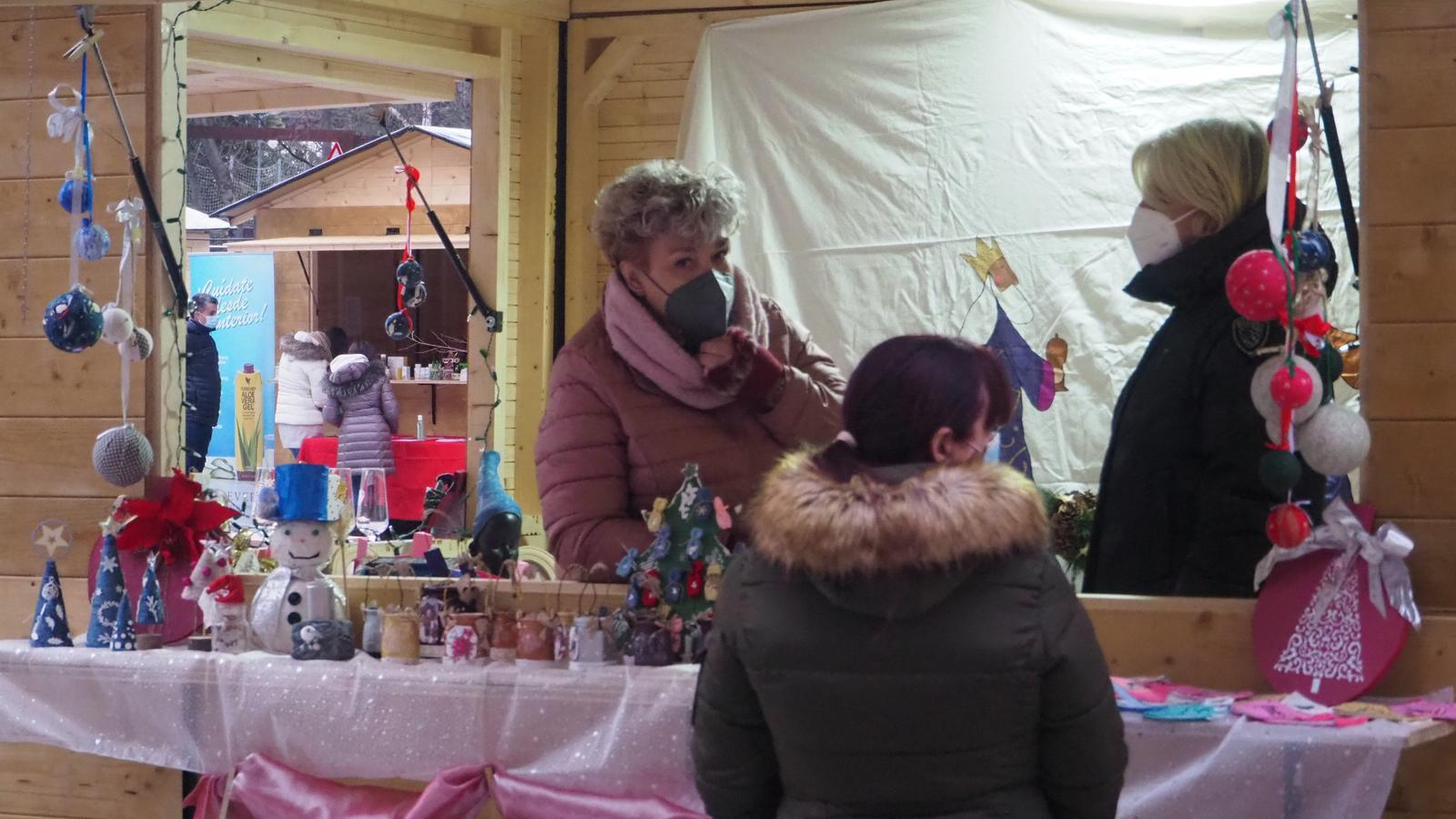 El mercat de Nadal d'Encamp, aquest diumenge. / E.C. (ANA)