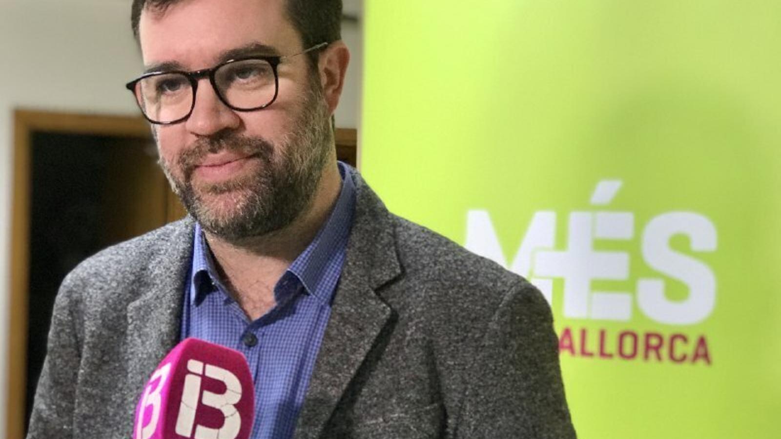 El coordinador de MÉS per Mallorca, Toni Nooguera