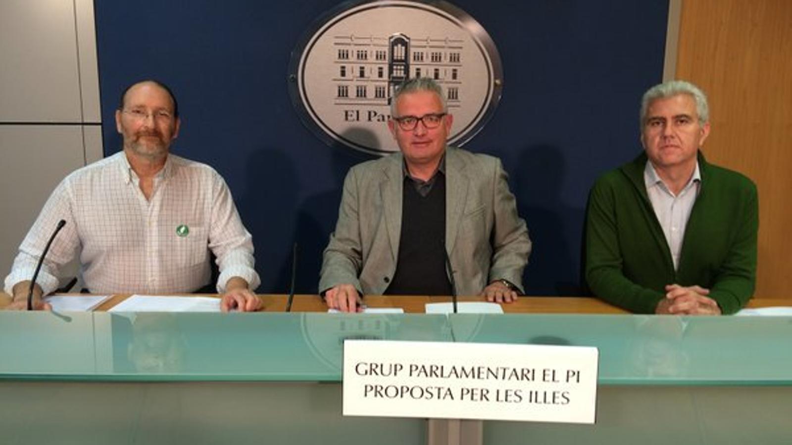Jorge Siminski, Jaume Font i Josep Melià.